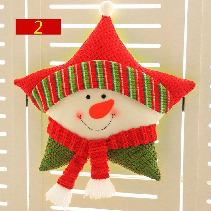 Aliexpress.com: Comprar Hot 1 unid 46 cm Estrella Feliz Navidad de Santa Claus Reno Muñeco Almohada Cojín Juguetes Decoración Del Partido Suministros Regalo Del Niño 2017 de gift gifts fiable proveedores en aimihome Store