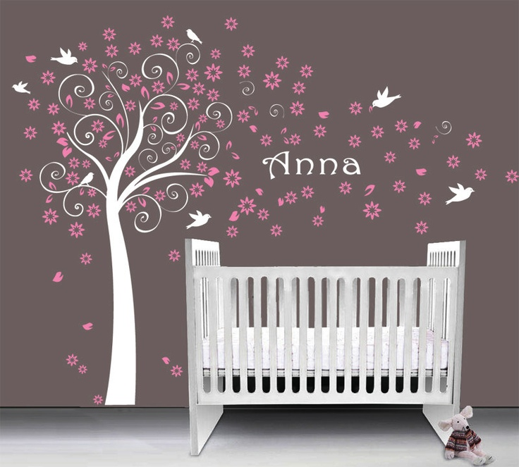 Baby Vinyl Wall Decals Decorative Blossom Tree, Custom Name   Nursery  Design By Art Home Part 53