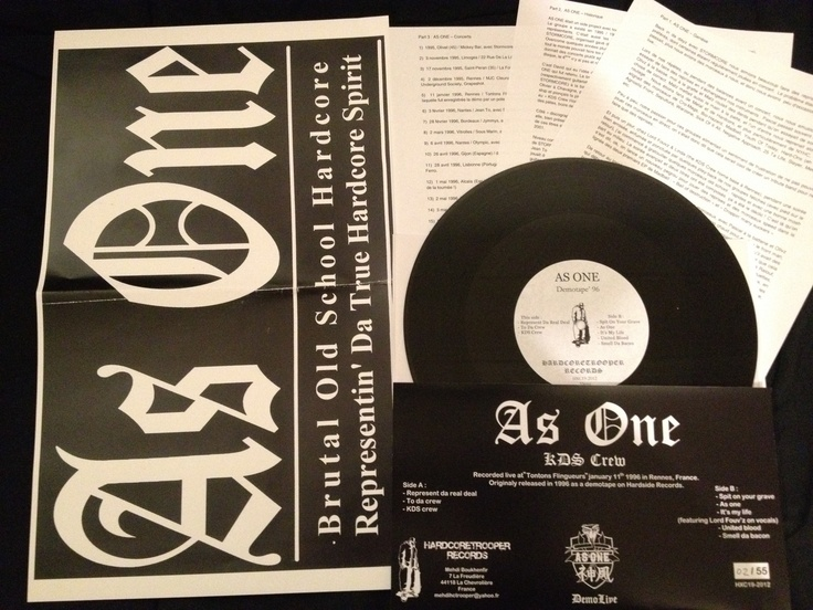 """AS ONE 10"""" Live demotape out on Hardcoretrooper Records"""
