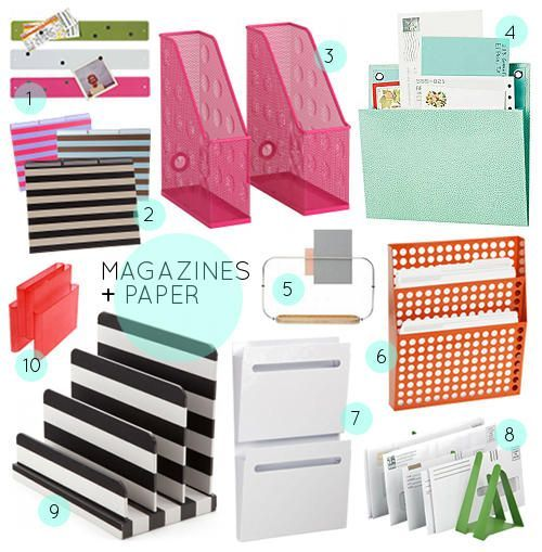 30 Great Home Office Organizing Tools Via Design Sponge Sexy Office Supplies Office Diy Decor