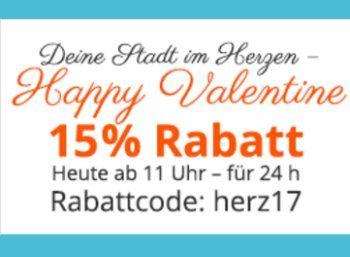 """Dailydeal: 15 Prozent Rabatt auf alle Gutscheine für 24 Stunden https://www.discountfan.de/artikel/technik_und_haushalt/dailydeal-15-prozent-rabatt-auf-alle-gutscheine-fuer-24-stunden.php Noch zwei Wochen bei zum Valentinstag: Bei Dailydeal ist jetzt für 24 Stunden ein Rabatt von 15 Prozent auf """"sämtliche Angebote"""" drin – mit dabei sind auch die beliebten Aral-SuperCards. Dailydeal: 15 Prozent Rabatt auf alle Gutscheine für 24 Stunden (Bild: Dailydeal."""