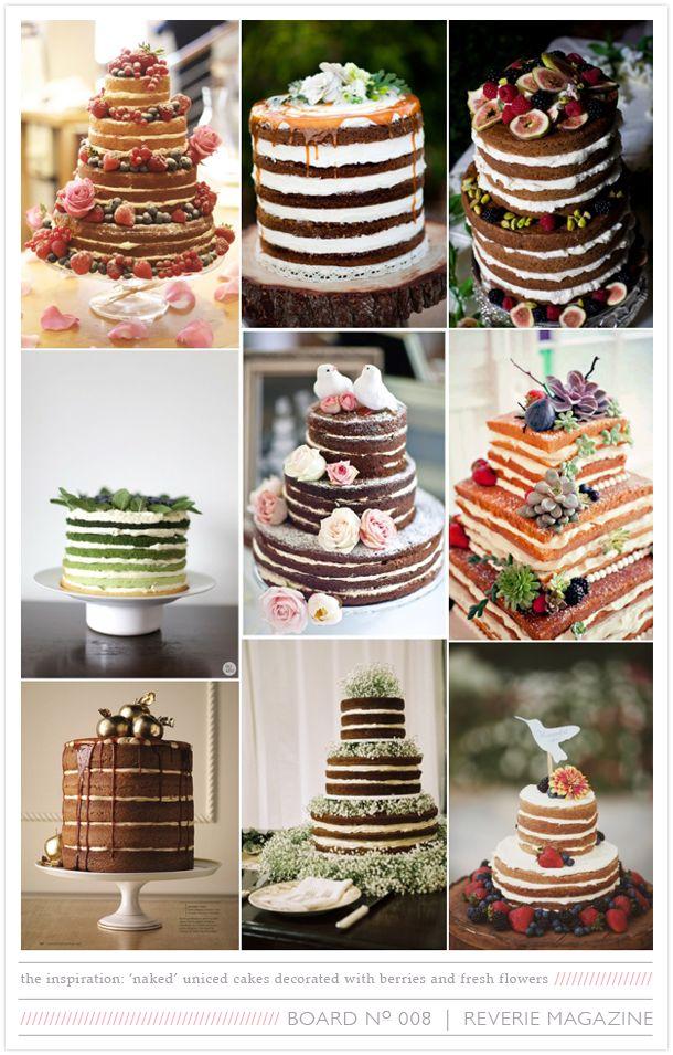 Tortas al desnudo o tortas de bodas naked, una tendencia en tortas de bodas 2013.