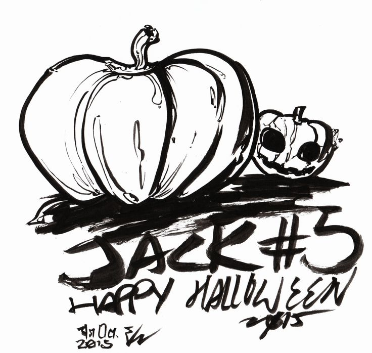 #inktober2015 -31 Jack #5 is for the good ol' Jack o'Lantern....sorta, I actually forgot what I was drawing half way through (I didn't do a blue draft line for this one) and ended up with just...uh...pumpkins...