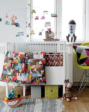 Bomull multifärgad med noahs ark - Stoff  Stil