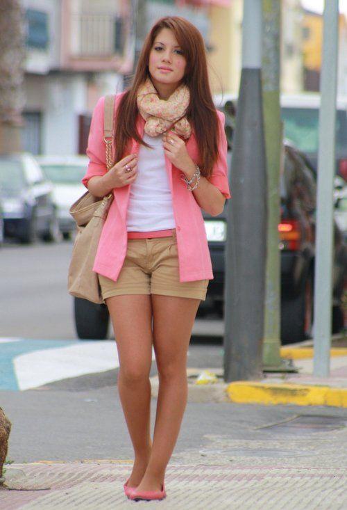 cute shorts and blazer