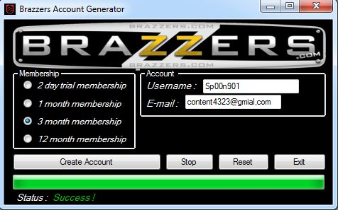 Free usernames and passwords for brazzers