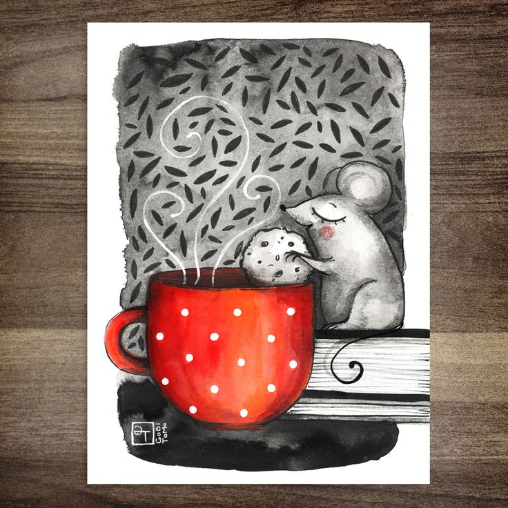 Haven't posted anything in quite a while now….but I'm definitely working on that :D So…here's a tea loving little mouse from my Inktober sketch collection :D