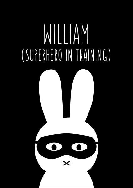 Personalised SuperHero Bunny