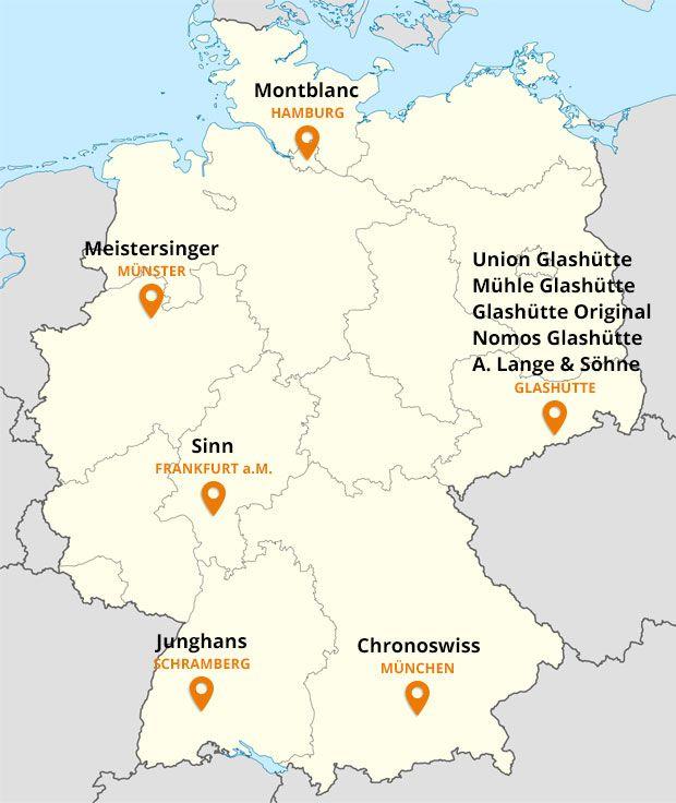 German watch companies #glashütte #lange #nomos #junghans #montredo #watch #uhrenhersteller