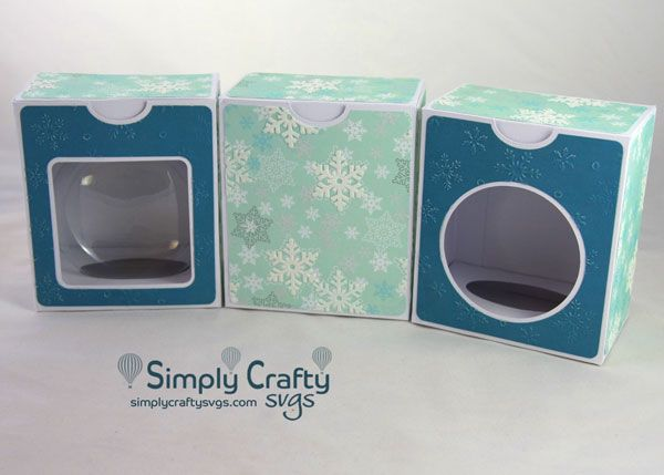 Disc Ornament Box 4 In Svg File Simply Crafty Svgs Ornament Box How To Make Ornaments Cricut Ornaments