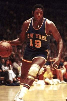 #19 Willis Reed, is a Hall of Famer and one of the most revered Knicks players. His dramatic entrance in game 7 of the '70 finals is one of the greatest moments in NBA history!