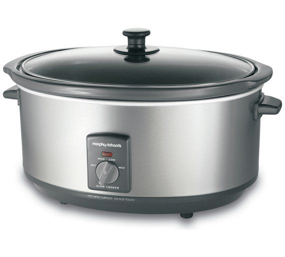 Buy Morphy Richards 6.5L Slow Cooker at Argos.co.uk - Your Online Shop for Slow cookers, Multi cookers, rice cookers and slow cookers, Kitchen electricals, Home and garden.