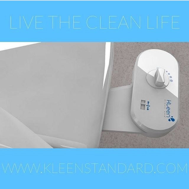 Live The Clean Life with Kleen Standard's toilet seat #bidet attachment!
