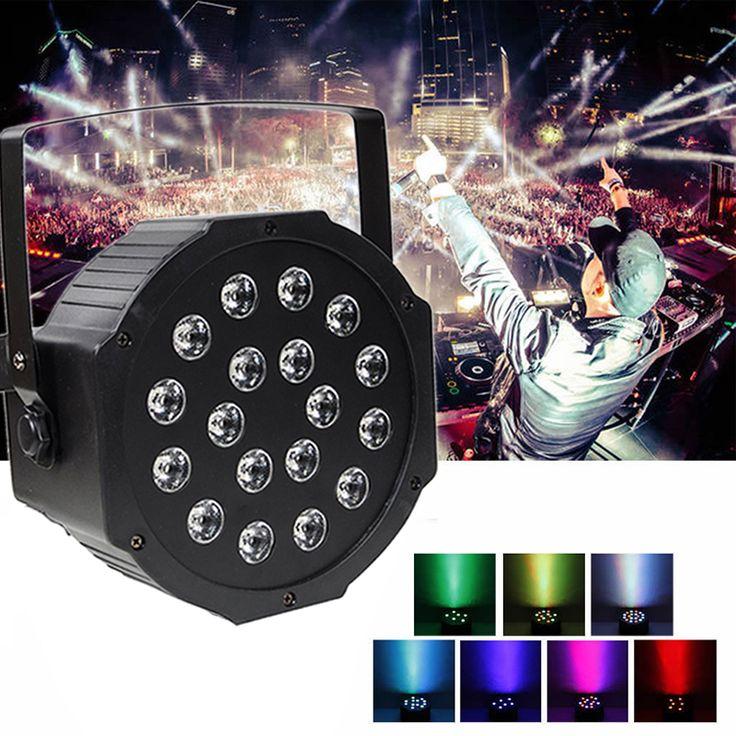 Strobe Magic 18W RGB LED DJ Stage Lighting Par DMX-512 Disco Party Light