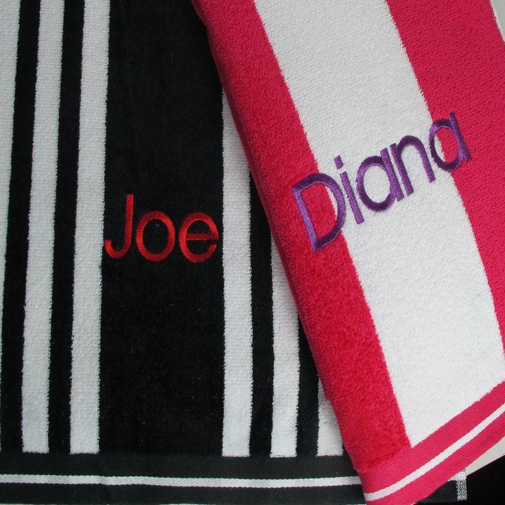 Mens personalised beach towels. #beachtowels