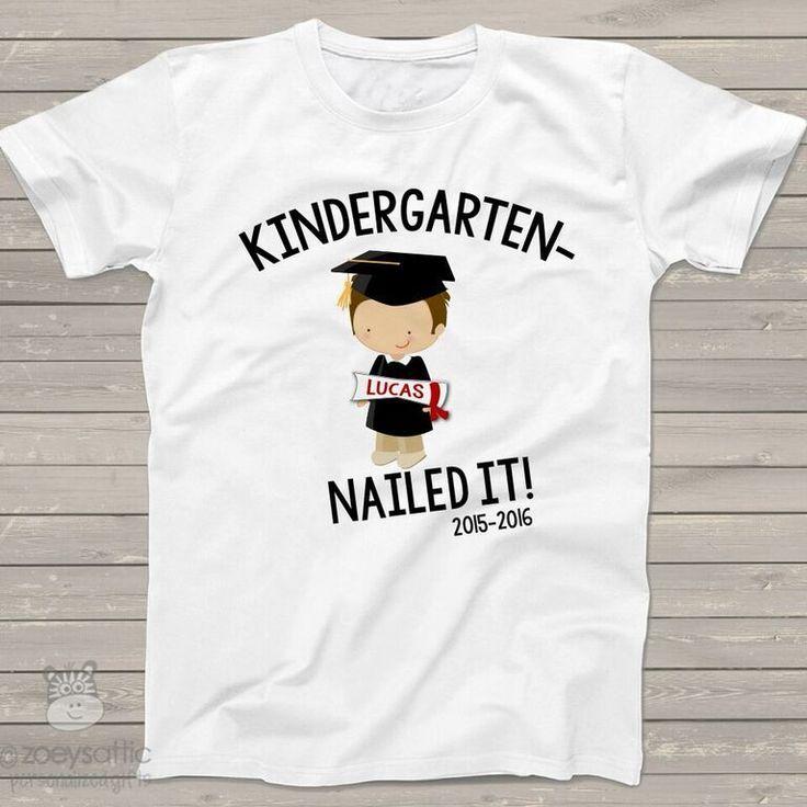 personalized kids shirts, kindergarten completion boy, graduation t-shirt