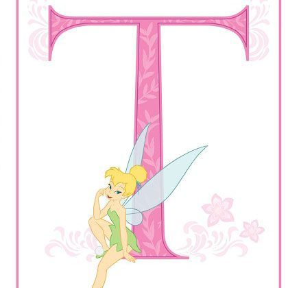 T is for Tinker Bell - Free printable alphabet letters