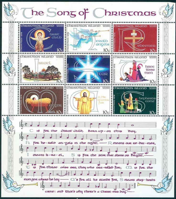 Stamp: The Song of Christmas (Christmas Island) (Christmas 1978) Mi:CX 101-109KB