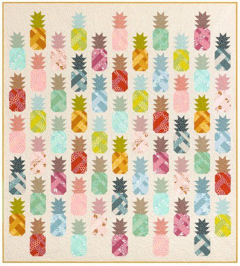 Pineapple Farm Quilt Kit- Pond Fabric- Elizabeth Hartman- Robert Kaufman