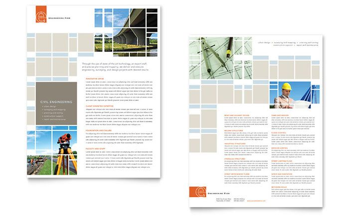 Civil Engineers Flyer And Ad Design Template By Stocklayouts