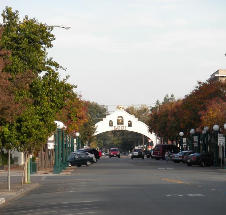 Downtown Lodi, CA in the Fall, 2012 Lodi Calif