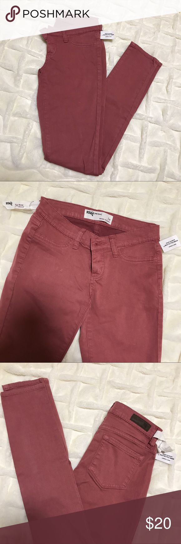 Tilly's RSQ Miami jeggings Tilly's RSQ Miami jeggings in color 🌹ROSE🌹 ✨never worn, no trades, tag still attached✨ Levi's Jeans Skinny