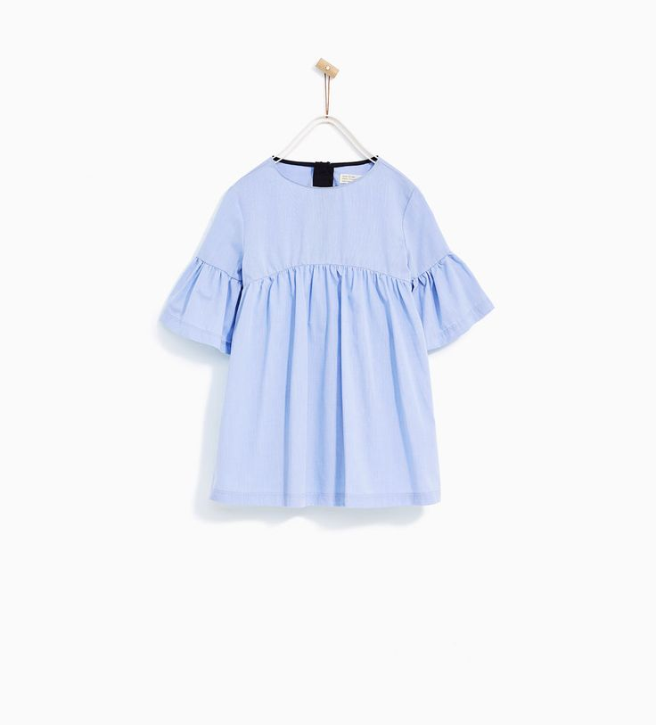DRESS WITH FRILLED SLEEVES-DRESSES AND JUMPSUITS-GIRL | 4-14 years-KIDS | ZARA United States