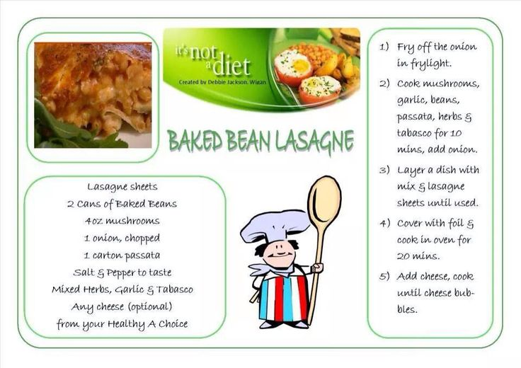 Baked bean lasagne | Slimming world Italian | Pinterest ...