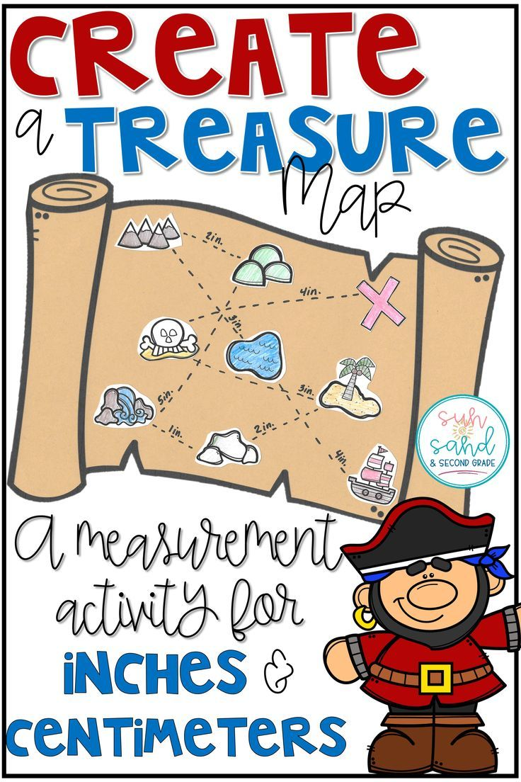 This is such a fun measurement activity for 2nd grade!! Students will love creating their own treasure map using inches or centimeters. Just one of many fun measurement activities for second grade!