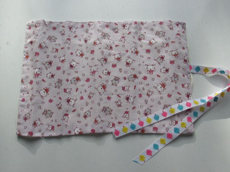 Makeup roll~ Crayon roll~Cats and Bunnies by LottieBStudio on Etsy