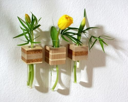 Miniature flower vase for your wall