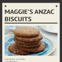 Infographic: Maggie'S ANZAC Biscuits