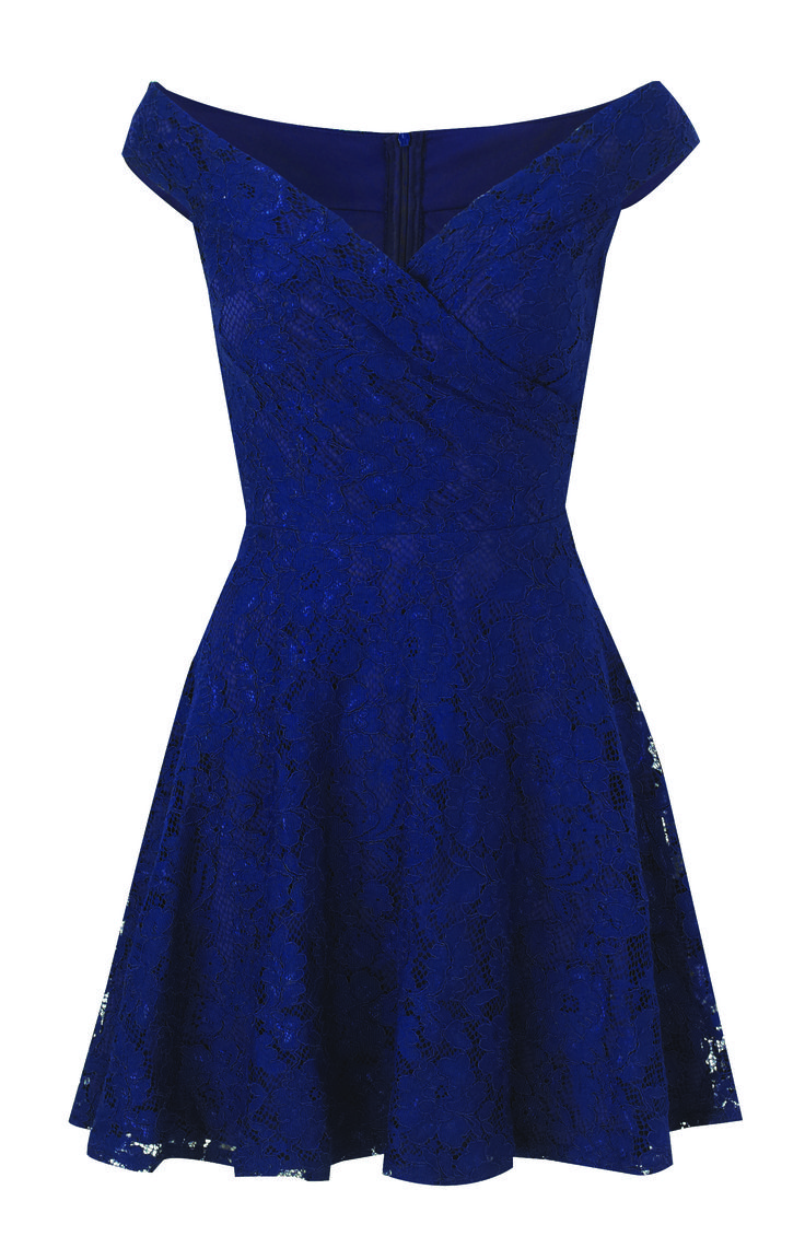 Sistaglam Martina Navy Lace Bardot Prom Dress £65.00 http://www.sistaglam.co.uk/category/sistaglam/sistaglam-martina-navy-lace-bardot-prom-dress-1803