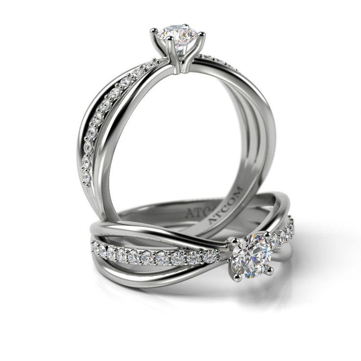Inel de logodna Juan cu diamante din aur alb