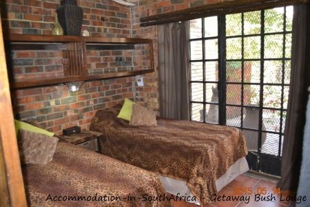Rooms at Getaway Bush Self Catering House. Accommodation at Getaway Bush Self Catering House.