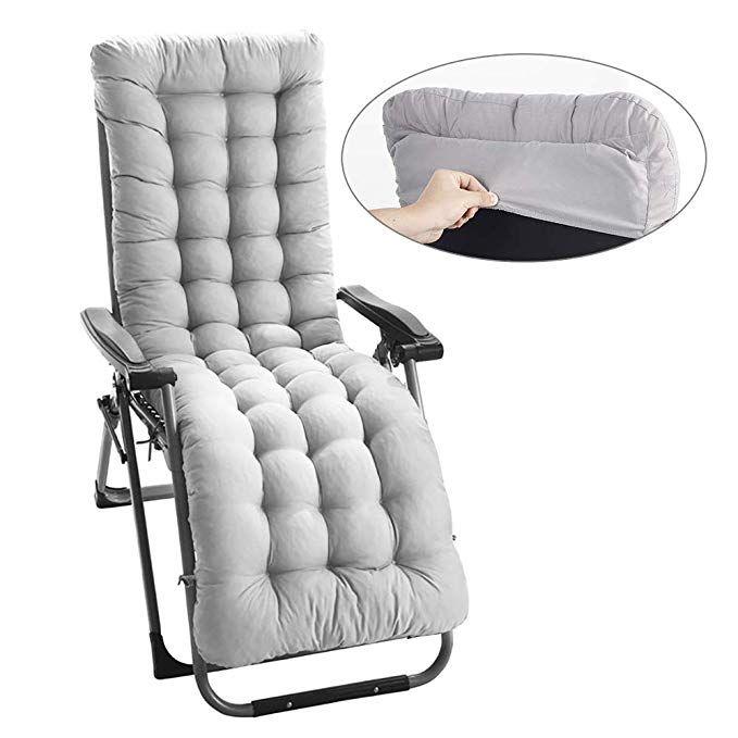 Amazon Com Bullstar 1 Pack Lounge Chair Cushion Indoor Outdoor Chaise Lounge Cushions With Lounge Chair Cushions Outdoor Chaise Lounge Chair Lounge Cushions