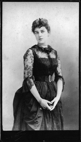 Jeanette ('Jennie') Churchill (née Jerome), Lady Randolph Churchill    by Nadar (Gaspard Félix Tournachon)  albumen panel card, circa 1885