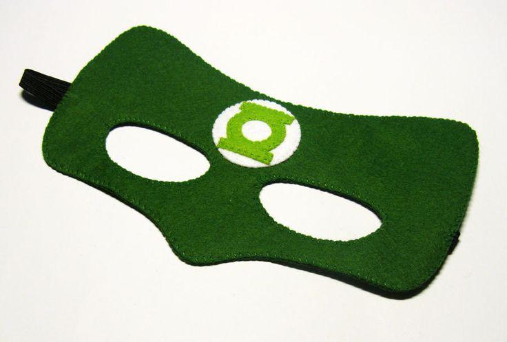 Máscara de superhéroe de linterna verde 2 años  adultos