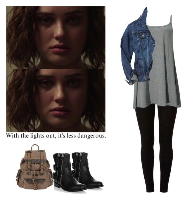 """""""Hannah Baker - 13 reasons why / 13 rw"""" by shadyannon ❤ liked on Polyvore featuring Dorothy Perkins, Gap, Giuseppe Zanotti and Wilsons Leather"""