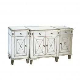 3-Piece large mirrored buffet side table.
