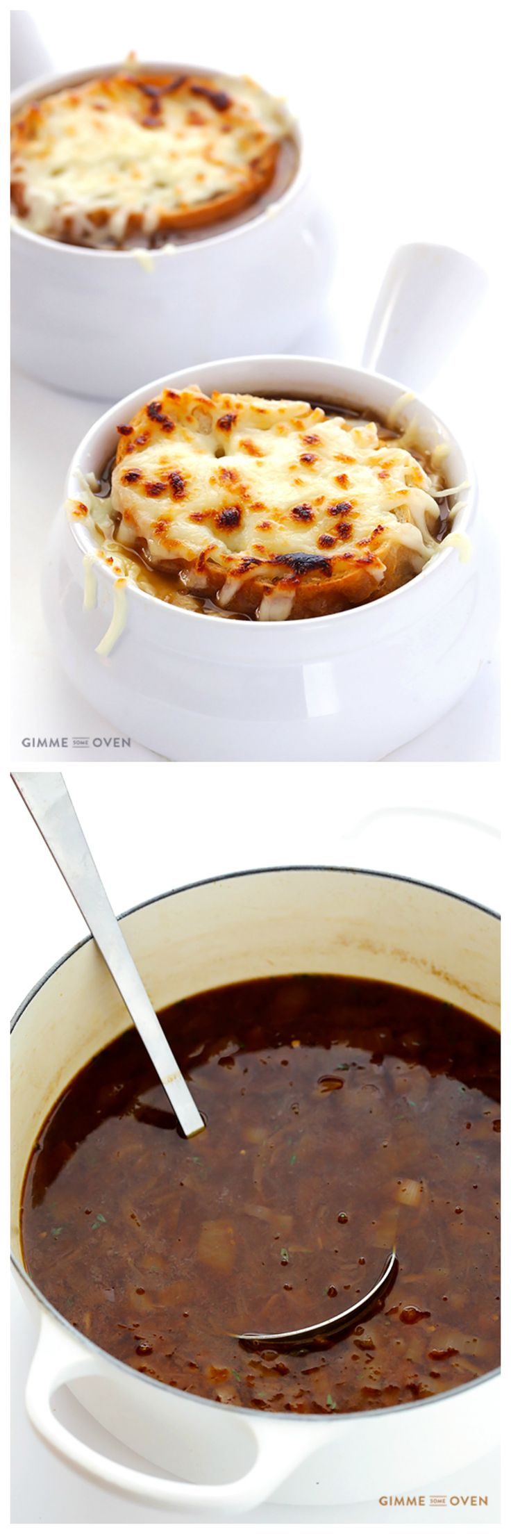 French Onion Soup -- learn to make this classic soup homemade with simple ingredients | gimmesomeoven.com