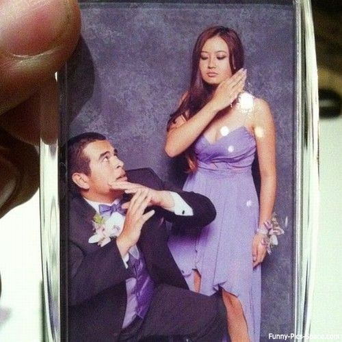 funny prom pose