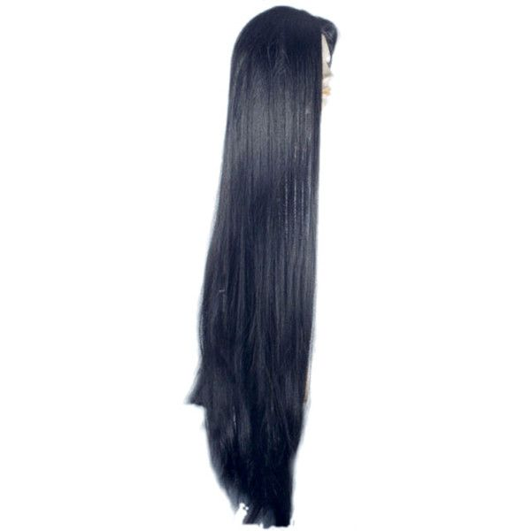 Morticia Addams Family Cher Wig by Lacey Costume ($75) ❤ liked on Polyvore featuring costumes, addams family halloween costumes, wigs costume, addams family costumes, morticia costume and addams family morticia costume