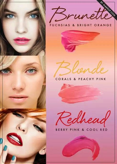 Best lipstick colors for brunettes, blondes, and redheads