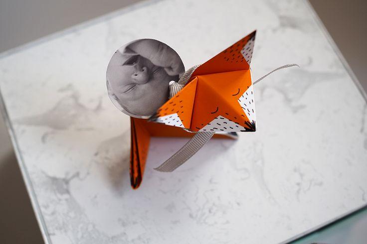 Faire part origami-renard