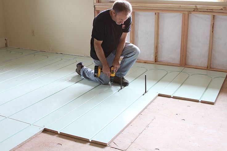 Warmboard Panels Install Directly Over Existing Slab