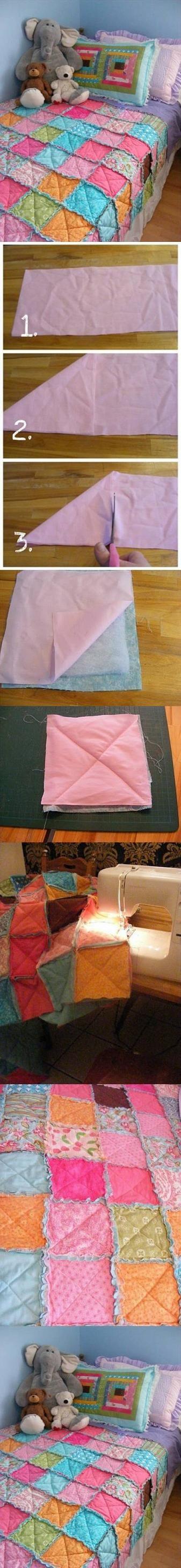 DIY Blanket Patchwork Technique Internet Tutorial | UsefulDIY.com