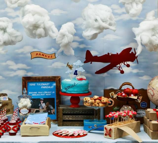 Vintage Airplane Birthday Party Ideas | Photo 1 of 13 | Catch My Party