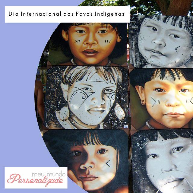 Você sabia que a Organização das Nações Unidas, no ano de 1995, estipulou o Dia Internacional dos Povos #Indígenas em 09 de Agosto?  Este povo, que ainda carece de alguns de seus direitos mais básicos - principalmente para #crianças - representa apenas 5% da população mundial.  A Meu Mundo Personalizado presta uma homenagem simbólica a este pessoal tão especial! <3 #lovemeumundopersonalizado