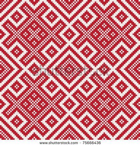 Vector illustration of slavic seamless pattern ornament by marina_ua, via ShutterStock